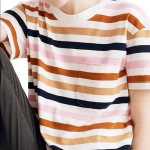 Madewell easy crop tee in Beatrice striped